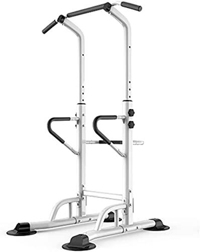 Power Tower Body Body Entrenamiento Equipo de ejercicio Equipo de ejercicio Torre de potencia, Subir Dip Estación con barras de empuje, altura ajustable, PUSHECUENDO HOMBRE ABDIOSO EJERCICIO ABDOMINAL