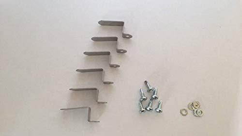 Einhängewinkel für Fliegengitter 15mm 6 Stück Montagewinkel