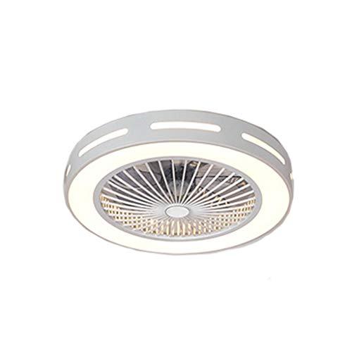 HLD Plafondventilator, licht voor in de slaapkamer, plafond, intelligente onzichtbare opgeladen ventilator, verlichting, moderne minimalistische led-ruimteverlichting, plafondventilator, licht