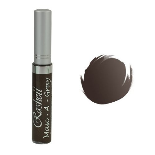 (6 Pack) RASHELL Masc-A-Gray Hair Color Mascara - Warm Brown by Rashell