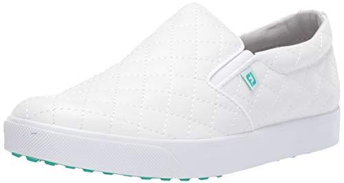 FootJoy Women's FJ Sport Retro Golf Shoes, White, 10 M US