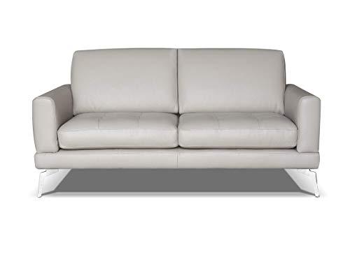 Marchio Amazon -Alkove, divano in pelle modello Modena, stile moderno, 2 posti, minerale