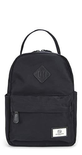 SEVENTEEN LONDON – Moderner und stilvoller 'Mayfair Mini' Rucksack in schwarz mit einem klassischen...