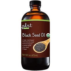 plnt Organic Black Seed Oil Provides Immune Support Cellular Health, Essential Fatty Acids, NonGMO, Vegan, Virgin ColdPressed (16 Fluid Ounces)