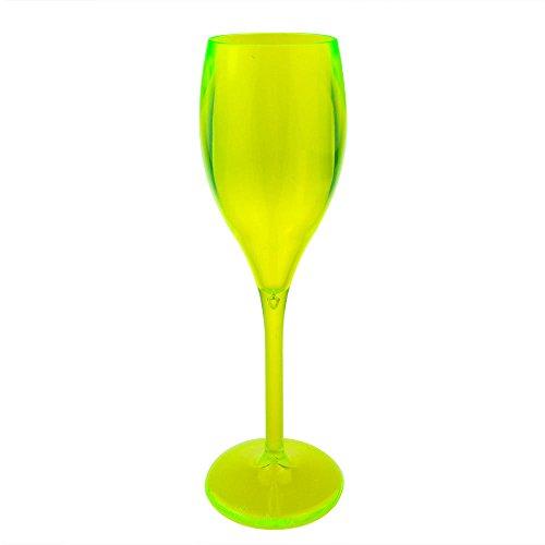 Flûte à Champagne Flûte à Champagne Tulipe Verre à Gobelet Verre à Vin Blanc Verre à Vin Réutilisable Verre Plastique Jaune Plastique Verre Camping Ensemble Extérieur 6 Pièces par DoimoFlair
