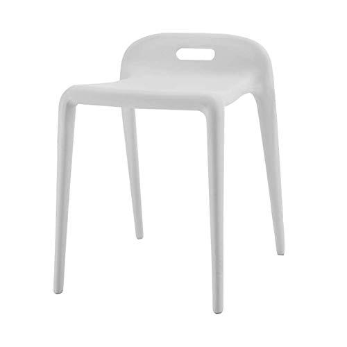 DX Silla, apilable de una Pieza Silla de Caballo Simple Hogar Sala de Estar/Comedor Silla de plástico de Ocio 8 Colores Gris