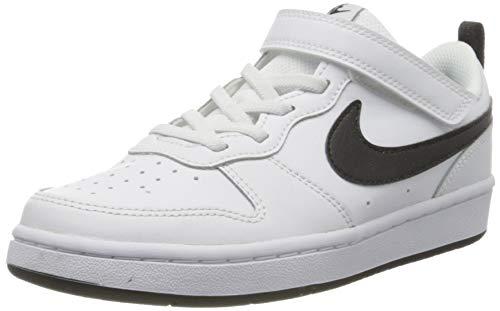 Nike Court Borough Low 2 (PSV), Scarpe da Basket, White/Black, 34 EU