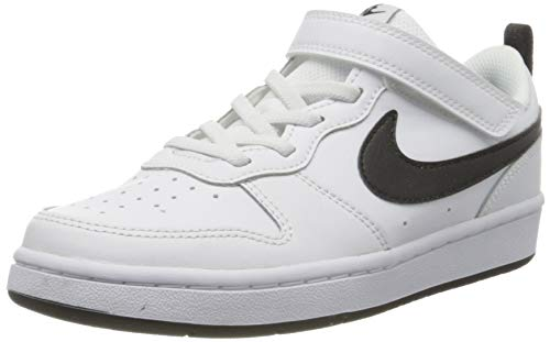 Nike Jungen Court Borough Low 2 Little Kid Basketballschuh, White Black, 34 EU