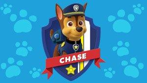 Patrulla canina (PAW PATROL) - Peluche personaje Chase, Pastor Aleman Policia (42cm de pie) Calidad super soft - Color Azul -