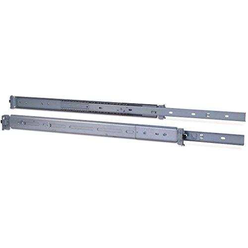 Inter Tech 88887221 Teleskopschienensatz mit Variabler Einbautiefe von 500-800 mm Silber