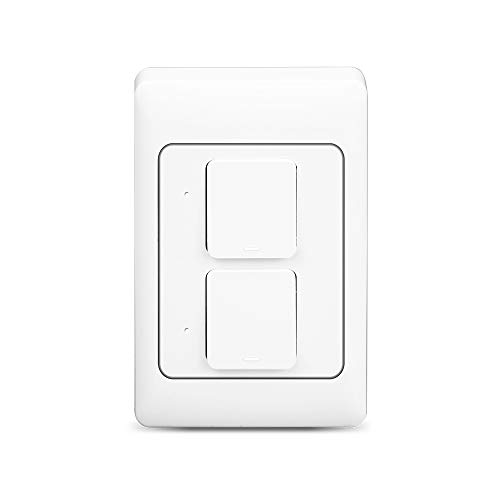 WiFi Light Switch,Compatible with Alexa and the Google Assistant,LED/Incandescent Switch,No Hub Required,Neutral wire requires,Single-Pole(two gang)
