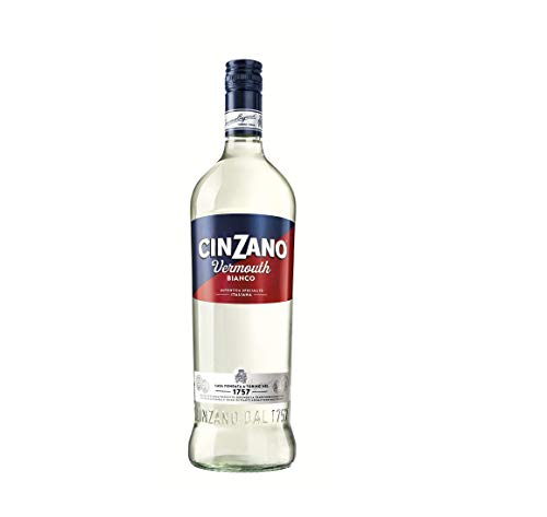 Cinzano Vermouth Blanco - 6 botellas x 1000 ml - Total: 6000 ml