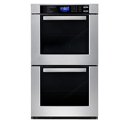Cosmo COS-30EDWC 30 in. Electric Double Wall Oven with 5 cu. ft. Capacity, Turbo True European Convection, 7 Cooking Modes, Self-Cleaning in Stainless Steel