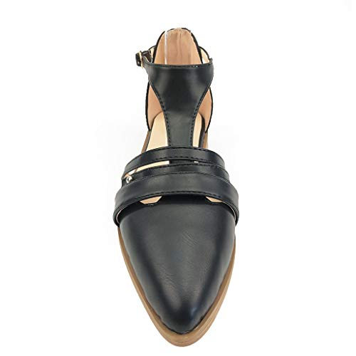 Chaussures à Bout Pointu Talons Hauts Carrés,Overdose Sexy Rétro Style Romain Sandales Femme Escarpins High Heels Couleur Unie Talon épais Pointu Chaussures Squelette