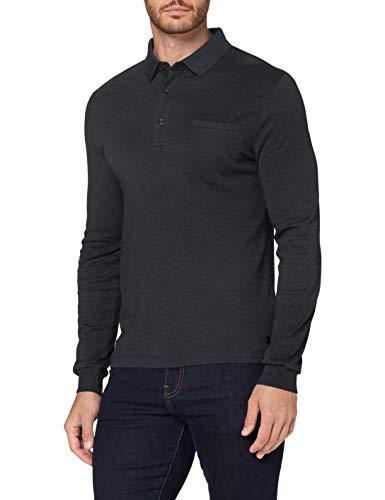Pierre Cardin Herren Longsleeve Interlock Uni Polo-Pullover, Anthra, L