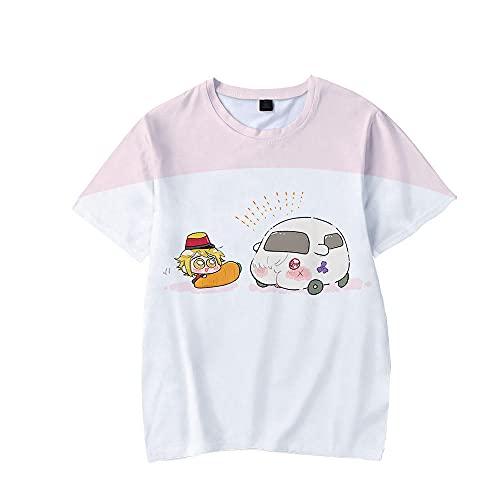 Pui MOLKER T-Shirt de Anime japonés para niños Kawaii Guinea Pig Imprima Tees Ropa Encantadora Chicas Tops de Verano-mi_SG