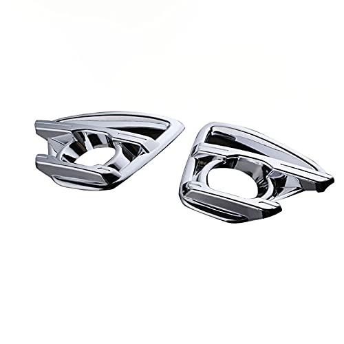 SUKLIER Abs Chrome Front Trim Lampe Rahmenkappe,Nebelscheinwerfer Blende Abdeckung ,FüR Mazda CX-5 2013-2016,Shiny Silver