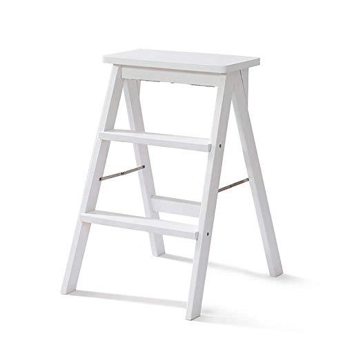 Accesorios para el hogar Taburete de madera para el hogar Taburete para el hogar Taburete para baño Antideslizante Escaleras multifunción Escalera plegable para escalar Taburete multifunción (Color