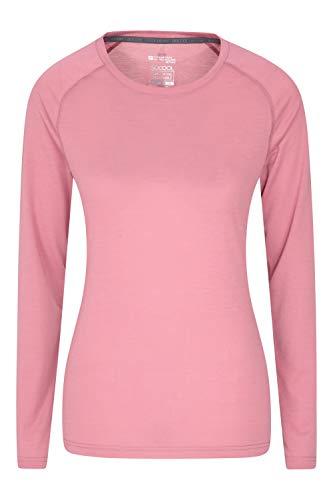 Mountain Warehouse Top IsoCool Dynamic para Mujer - Camiseta cómoda para Mujer, Camiseta Ligera, Secado rápido, Camiseta Transpirable - para Viajar, Correr Rosa Claro 38