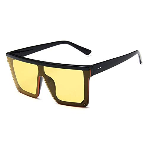 ZZOW Gafas De Sol Cuadradas De Gran Tamaño Vintage De Una Pieza para Mujer, Gafas De Espejo, Gafas De Playa para Conducir Al Aire Libre, Gafas, Gafas