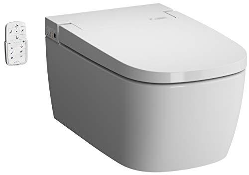 Vitra V-CARE Comfort adj. Trockenfunktion(Fön) und automatisches Öffnen/Schließen des Soft-Close Sitzes spülrandlos mit Bidetfunktion, Dusch WC inkl. Softclose WC-Sitz
