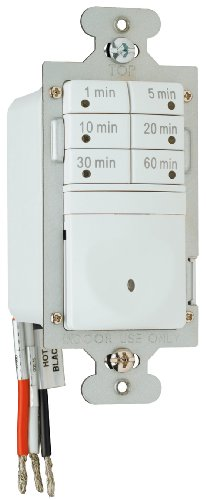 Legrand Pass & Seymour Digital Light Switch Countdown Timer, Decorator Rocker Wall Switch, 7-Button, RT1WCCV4