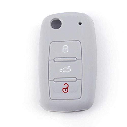 BEKwe Cubierta de la Llave del Coche, Apta para VW Polo Golf Jetta Tiguan Passat Bora EOS Beetle Seat, Apta para Skoda Fabia