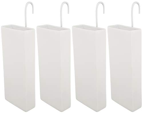 Luftbefeuchter für Heizung Set inkl. Haken - Keramik Wasserverdunster - beige matt - Wasserverdunster Verdampfer Verdunster Heizkörper Luftreiniger - Neutral - 4 Stück