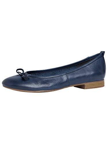 Tamaris Damen 1-1-22114-25 Ballerinas, blau, 39 EU
