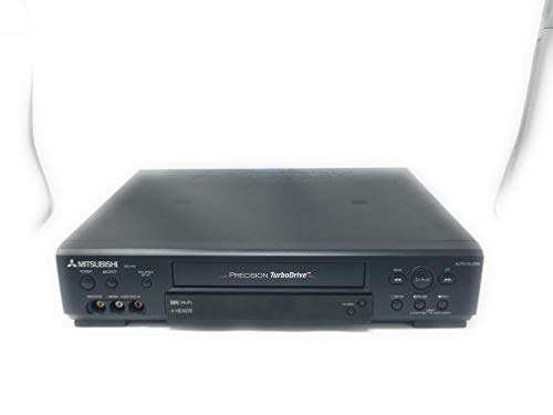 MITSUBISHI HS-U448 VCR Video Cassette Recorder, PRECISION TurboDrive, 4-Head Hi-Fi Stereo VHS HQ Player, Auto Clock. Works Great.