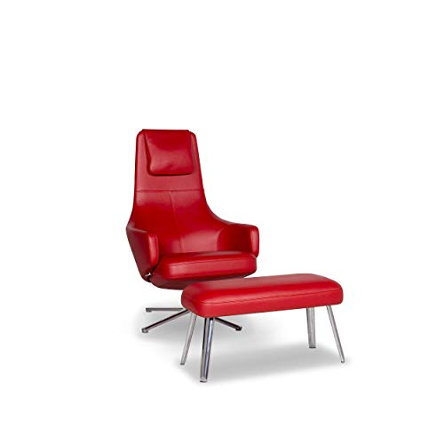 Vitra Repos & Panchina Leather Armchair Incl. Stool Red Relax Function