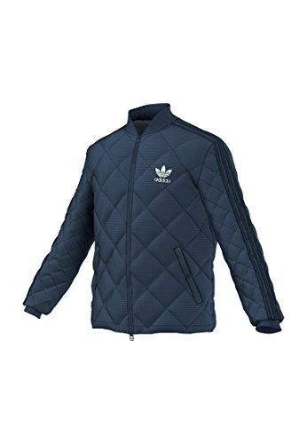 adidas Herren Quilted Superstar Jacke, Utility Blue, S
