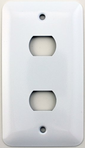Mulberry Princess Style White Single Gang Switch Plate 2 Despard Openings
