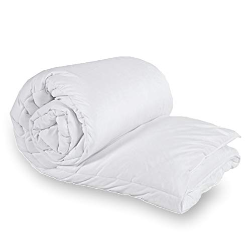 ZA TEX 100% POLY COTTON Filled With Flufiest Anti Allergenic Hollow Fiber UK Made TOG 15.5 Winter Duvet Quilt (Single)