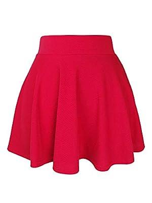 Short Skirts for Girls Ladies Petite Women Basic Versatile Stretchy Flared Skater Casual Mini Skirt