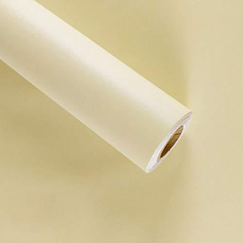 LZYMLG Impermeable Baño Armarios de cocina Estante Revestimiento Adhesivo Papel de contacto Vinilo Pvc Papel pintado autoadhesivo extraíble para paredes Beige
