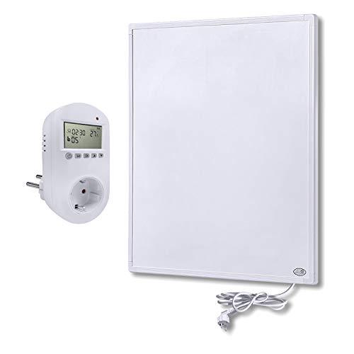 LZQ Infrarotheizung 300 Watt mit Thermostat, Infrarot-Elektroheizung, Wandheizung Elektroheizung Wand - Infrarot-Technologie, ultraflach, Überhitzungsschutz - GS Tüv