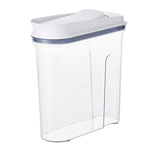 Read About 3.4 Qt. POP Cereal/Ingredient Dispenser with White POP Lid. Good Addition to Home, Office...