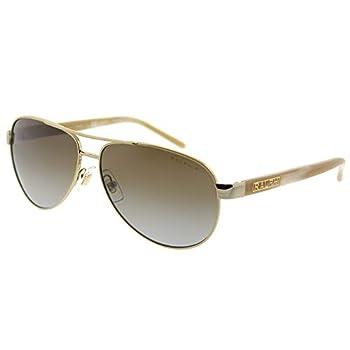 Ralph by Ralph Lauren Women s 0ra4004 Polarized Aviator Sunglasses Gold Cream 59.0 mm
