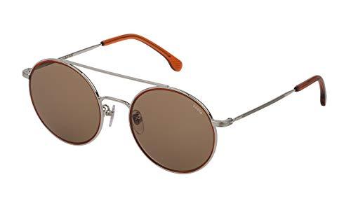 Lozza Unisex SL233553579K Sonnenbrille, Total Shiny Palladium, 53/21/145