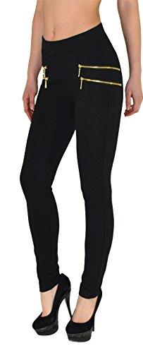 ESRA Damen High Waist Hose Stretch Röhrenhose High Waisted Hose bis Übergröße J189