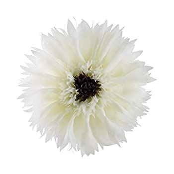 ELSKERJW 3D Sunflower Decorative Accent Pillow with Insert Handamde Round Throw Cushion Home Bed Couch Living Room Chair Decor Sham Gift Creamy White Elegant Yarn Diameter 12 Inch