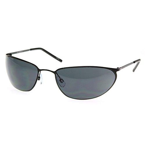 zeroUV - Matrix NEO Metal Wire Frame Glasses Movie Inspired Sunglasses (Black)