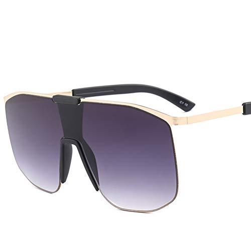 CHENG/ CHENG Sonnebrille Übergroße Sonnenbrille Männer Großen Rahmen Platz Sonnenbrille Männer New Vintage Gradient Shades Eyewear