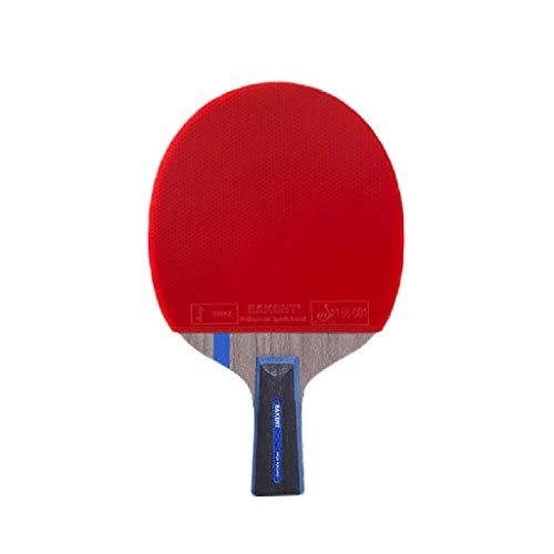 GEREP Juego de Raquetas de Ping Pong Con bolsa de almacenamiento, madera de 7 capas Raquetas de Ping Pong, profesional o entrenador Raquetas de Tenis de Mesa, gran regalo, alta calidad/Mango co