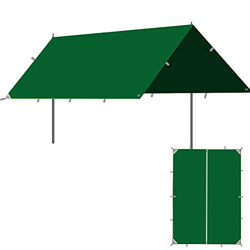 Roboraty Sun Sail Shade, toldo con Dosel para jardín al Aire Libre, Refugio para Eventos Gazebo, Refugio Solar portátil con protección Solar,5~8 People,C-3x3m(9.8x9.8ft)
