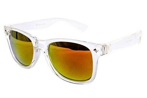 Ciffre Nerdbrille Sonnenbrille Nerd Atzen - Weiß Bunt Verspiegelt Transparent