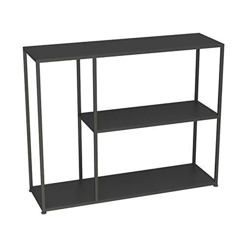 Estantería de 3 niveles, mesa de consola de metal, para sala de estar, oficina, libro, habitación, mesa de pared con almacenamiento (tamaño: 80 x 25 x 75 cm, color: B)