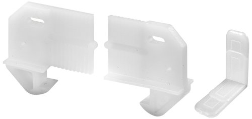 PRIME-LINE R 7346 Drawer Track Guide and Glides, Adjustable, Plastic Construction, White, Pack of 2