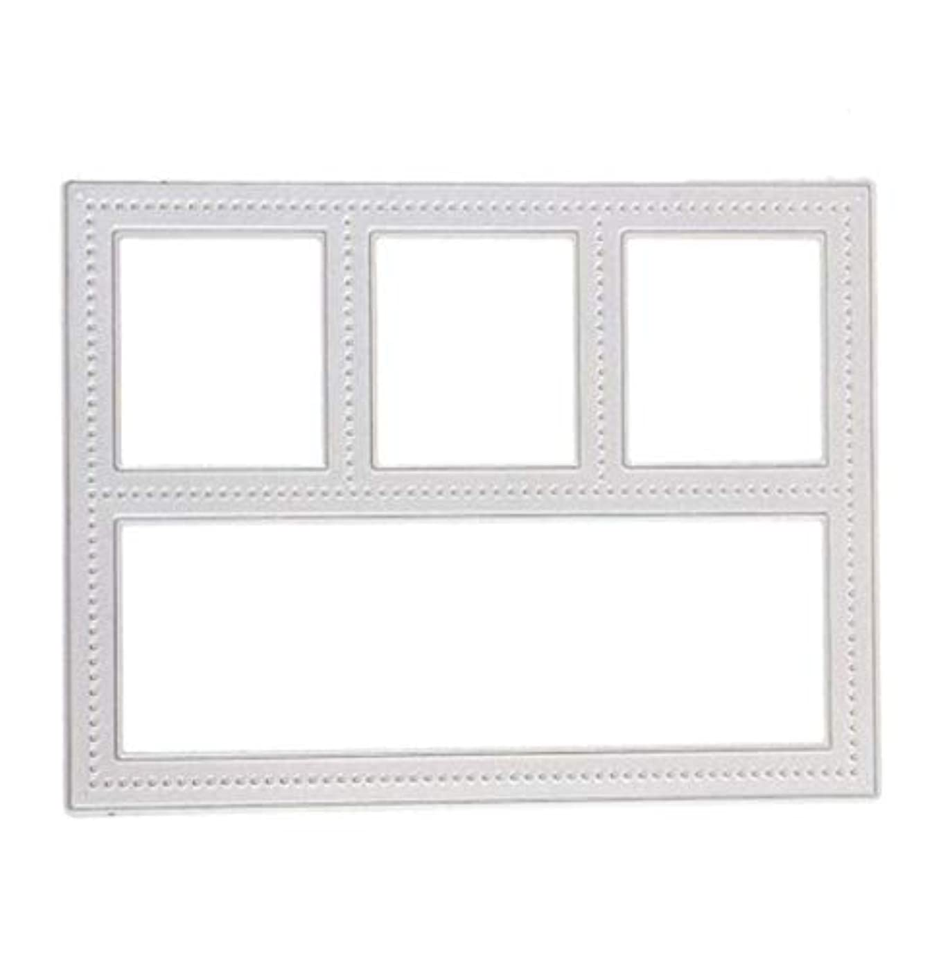 Mvchif Cutting Dies Metal Stencils Scrapbooking Tool DIY Craft Carbon Steel Embossing Template for Paper Card Making (Rectangle Window)